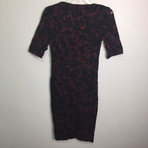Anthropologie Dresses - Maeve Burgundy & Black Rouched Lace Dress Sz 2